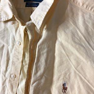 Men's Yellow Ralph Lauren Button Down Shirt